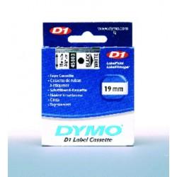 Schriftbandkassette Dymo D1 19mmx7m schwarz auf weiß 1 St.