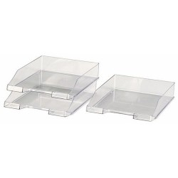 Briefablagekorb DIN A4 u. Folio PVC glasklar HAN 1026 / 2 Stück