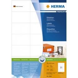 Etiketten 70x42,3mm weiß Herma 4668 Pckg. á 2100 St.