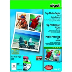 Fotopapier Inkjet-Papier Sigel IP612 A4 210g glossy incl. Software