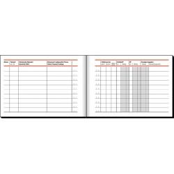 Fahrtenbuch DIN A6 quer für PKW 44 Blatt Sigel 614