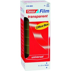 Klebefilm Klebeband TESA Office 19mmx33m PP transparent VE=8 Rollen