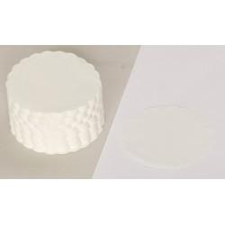 Tassendeckchen Papier rund·Ø 8,5 cm weiß / 2 VE= 1000 Stück