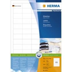 Etiketten 38x21,2mm weiß Herma 4270 (6500 St.=100 Bl.)