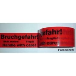"Klebeband Packband ""Bruchgefahr"" 50mm x 66m (1 Rolle)"