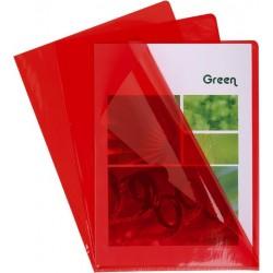 Sichthüllen A4 PVC 0,13mm glatt oben und rechts offen rot (10 Stück)