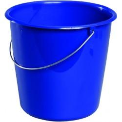 Eimer Kunststoff mit Metallbügel ohne Ausgießer 10 Liter Blau  / 1 Stck.