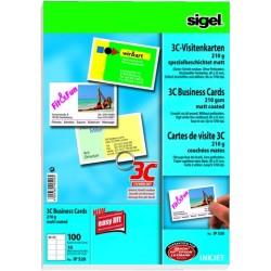 Visitenkarten 85x55mm Sigel IP520 hochweiß 210g/m² 1 Pckg. á 100 St.
