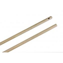 Besenstiel Holz 140cm mit Aufhängeloch