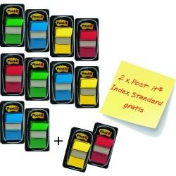 Haftmarker Post-It Index 680 25,4x43,2mm 4farbig sortiert 50Bl. Packung á 12 Stück