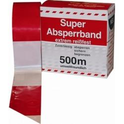Absperrband rot / weiß 500 Meter im Karton