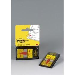 Post-It Index Haftstreifen 25,4x43,2mm mit Symbol Unterschrift gelb