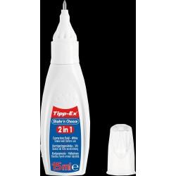 Korrekturflüssigkeit Tipp-Ex 2in1 weiß 15ml