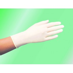 Handschuhe Einweg Latex puderlos weiß Gr. L/8 (100er Pckg.)