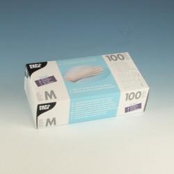 Handschuhe Einweg unsteril Vinyl puderfrei Größe M natur Spenderschachtel á 100 Stück