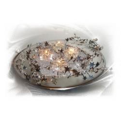 Gelkerzen Glassterne Silber 6-er Set