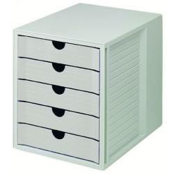 Formularkasten HAN 1450 mit 5 geschl. Schubladen A4 lichtgrau