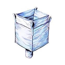 BigBag (ca. 1800 Liter) Schüttgutbehälter für Verpackungschips zum Aufhängen