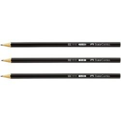 Bleistift Faber Castell 1111 sechseckig HB schwarz (12 Stück)
