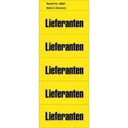 Inhaltsschilder Inhaltsschildchen sk Lieferanten gelb 1Pckg