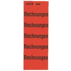 Inhaltsschildchen Leitz sk 60 x 25,5 mm rot Rechnungen 1 Pckg.