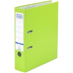 Ordner Elba A4 Kunststoff Einsteckrückenschild 8cm breit grün hellgrün