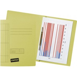 Schnellhefter A4 Karton 250 g/m² gelb  (10 Stück)