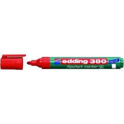 Flipchartmarker Edding 380, 1,5 - 3 mm nachfüllbar rot
