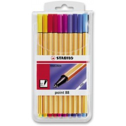 Tintenschreiber Stabilo Point 88 0,4mm farbig sortiert 20-er Etui