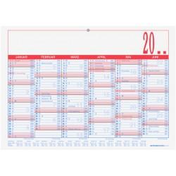 Tafelkalender Kalender A5 quer Zettler 6M/1S Material Karton