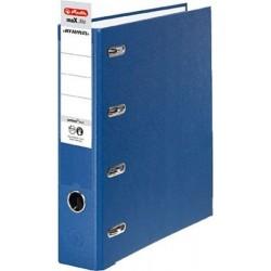 Doppelordner A4 2xA5 Herlitz Ordner PP kaschiert blau