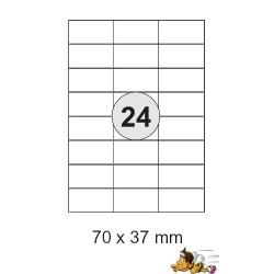 Etiketten Selbstklebe-Etiketten 70x37,1mm E07 (2400 Stück 1 Päckchen)
