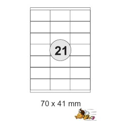 Etiketten Selbstklebe-Etiketten 70x41mm E11 (1 Päckchen á 2100 Stück)
