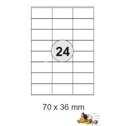 Etiketten Selbstklebe-Etiketten 70x36mm E13 (2.400 Stück 1 Päckchen)