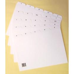Kartei Register Leitregister Kunststoff A-Z A7 quer weiß / 1St