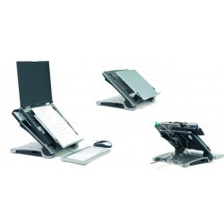 Laptopständer Ergo-T 340 Kunstoff silber / schwarz
