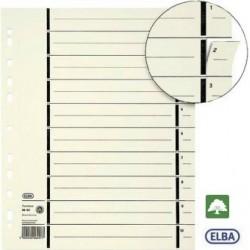 Trennblätter Elba A4 Kraftkarton 230g/m² perforiert chamois 100St.