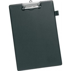 Klemmbrett Schreibplatte Klemme kurze Seite A4 schwarz / 1 St.