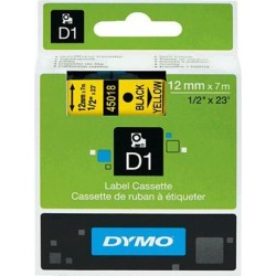 Schriftband D1 Dymo S0720580 12mm x 7m schwarz auf gelb / 1St.