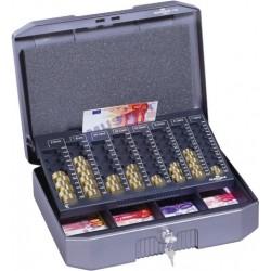 Geldkassette EUROBOXX Stahl anthrazit/grau incl. Zählbrett / 1 St.