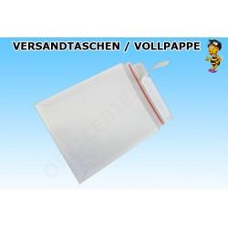 TOPPAC 220 Versandtaschen aus Vollpappe DIN B5+ (100 Stück) WEISS