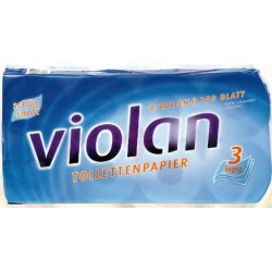 Toilettenpapier Tissue 3lg. Rolle 150 Blatt hochweiß mit Prägung Pckg. á 10 Rollen