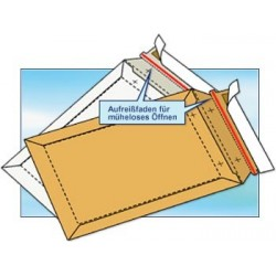 Versandtaschen aus Vollpappe DIN A4 235x310x -30mm (100 Stück) WEISS
