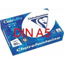 Kopierpapier A5 Multifunktionspapier Clairefontaine 80g weiß 500 Blatt