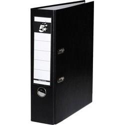 Ordner A4 80 mm breit Color PP Einsteckrückenschild schwarz 1St.