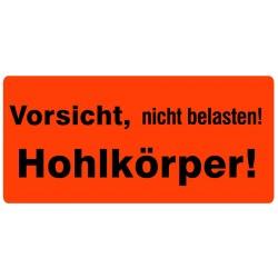 """Versandetiketten Hinweisetikett """"Vorsicht Hohlkörper"""" (3x1000 Stk./Rolle)"""