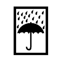 """Versandetiketten Hinweisetikett """"Regenschirm"""" (1000 Stk./Rolle)"""