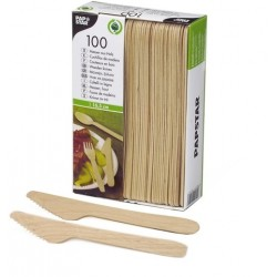 Einmal-Besteck - Einweg Messer 165mm lang Holz (VE=100 St.)