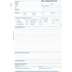 Bautagesbericht Zweckform 1777 A4h 3fach sd 1./2./3.Bl.bedr. 3x40Bl.