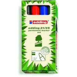 Permanentmarker Edding 21 Ecoline Rundspitze 1,5-3 mm 4er Set